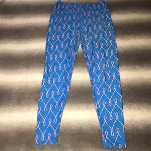 LuLaRoe Pants - 🚫SOLDw🚫 LuLaRoe OS Pink Ribbon Leggings